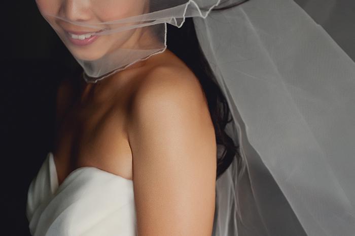 smile of a bride